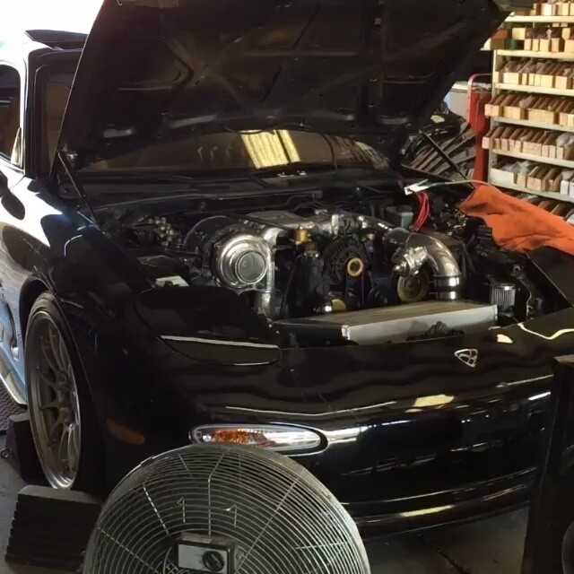 Billy's rx7 with Ocdworks machined turbocharger @brotorman -