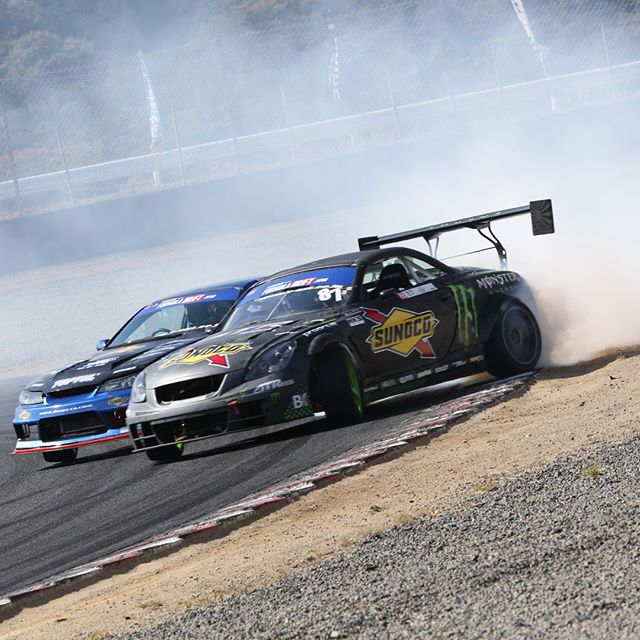 Monster Smoke! - Formula Drift Japan @sunocoracing @daigo_saito @monsterenergy @formulad