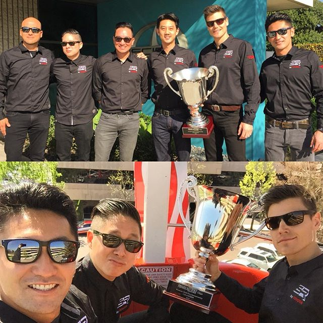 Reunited with the @scionracing crew! Brought last years trophy to display at today's #ToyotaMotorsportsDay, ended up taking it on a ferris wheel ride... Thanks to all that came by today. Time to get ready for a new season!