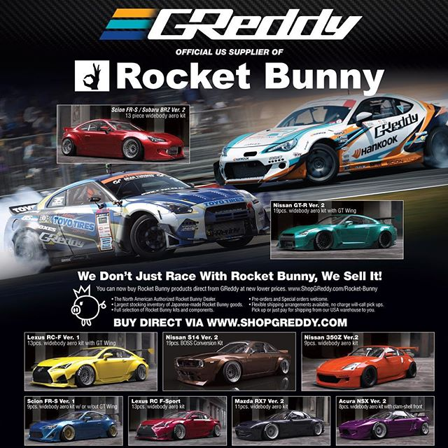See #shopgreddy.com now for our & Spring Sale. Save 10% on all in-stock full kits - including the new Pandem S30 240Z, R35 GT-R, Z33 350Z, S15, S14 Boss, RPS13 V2 and FRS/BRZ V1 and V2... while supplies last!