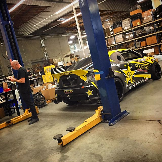 The mad scientist and his creation. Full steam ahead; is just around the corner! @rockstarenergy @scionracing