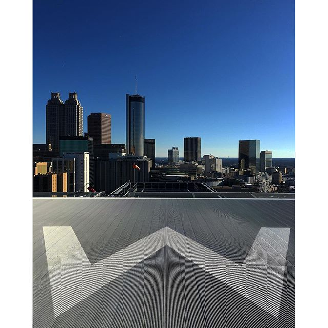 Up on the helipad at the W hotel in Atlanta.