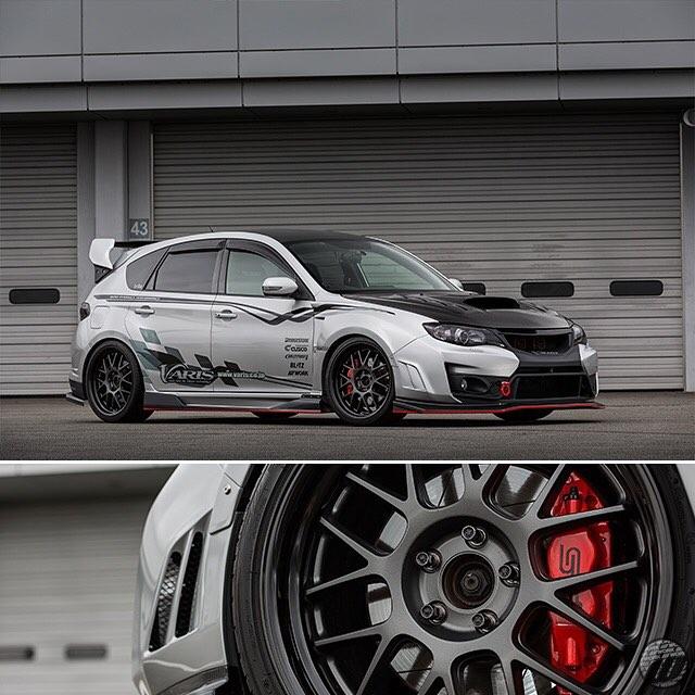 @varis_japan Subaru STI on WORK Meister M1R F/R:19x9.5J+45mm