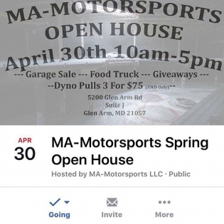 Don't forget! @mamotorsports open house is tomorrow! Stop by to see the cars and hang out! We have a garage sale going on and we will be selling our branded team gear as well. See you there!