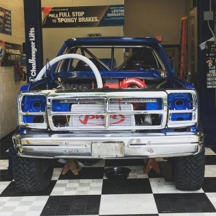 Here is @chrisforsberg64 and I's hot rod for the #baja1000. 91 Dodge Ram with a 24 valve Cummins and drivetrain from a 2004 Dodge Ram that will be making 1,200 foot pounds of torque. This thing is going to be badass. Currently being built at @valvoline headquarters by some great people. #valvoline #cumminspower #tuerckdgoesoffroad