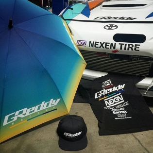 Re-stocked on #GReddyRacing Team Tees, Caps & Umbrellas in preparation for next weeks #FDATL. Order yours today on #ShopGreddy.com or find us next week at #FormulaDrift rd2 Road Atlanta #GUSHI21 @greddyracing @boost_brigade