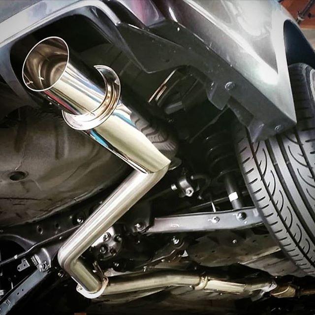 Sneak-peek of the upcoming 76mm exhaust earlier today.