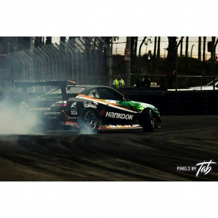 """""""The critical moment in which a mistake, especially at Long Beach, can end your weekend. One screw up and you're either in the wall or you're stuck trying to get back on track."""" @pixelsbytab #Nissan #s15 #2jz #getnutslab #drifting #formuladrift #FDLB"""