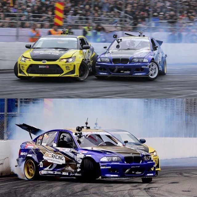 What drifting is all about: Pulling out all the stops and going as hard ad you can with your friends!! All the boys drove super hard and hats off to @chelseadenofa for an amazing win! Photos by @baoshalovedrift and @cmplxmind. @rockstarenergy @nexentireusa @scionracing @motegiracing