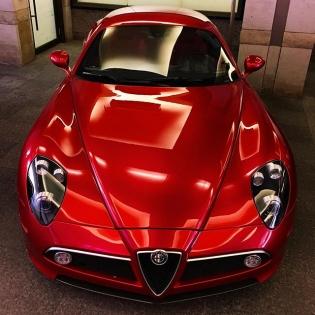 Alfa Romeo 8C Competizione spotted in Toronto. #rarebird #alfaromeo #8C #carspotting #gimmegimmegimme
