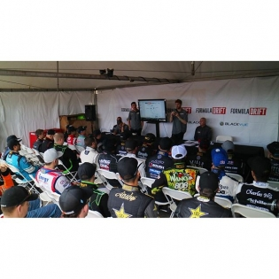 BTS of the Pro drivers meeting before they hit the track for practice. #formulad #formuladrift #FDATL