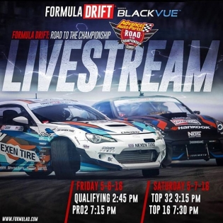 Cheer on @kengushi and the #GReddyRacing #NexenRacing #SRbyToyota #86. The #formulad livestream starts at 11:45am PST today, 12:15 Saturday #FDATL