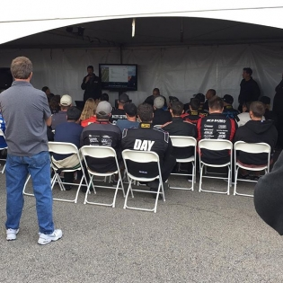 Getting some insight at the #pro2 drivers meeting here at #fdatl - @chelseadenofa
