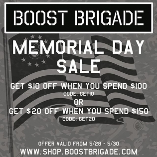 "Go to www.boostbrigade.com * Use discount code ""GET10"" to get $10off orders over $100 ** Use discount code ""GET20"" to get $20off orders over $150 For a direct link see >> @boost_brigade"