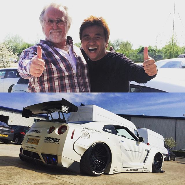 LB WORKS GTR in London!! Well done!! He is LB WORkS oldest owner in the world!! He is 68 years old !! @libertywalkkato