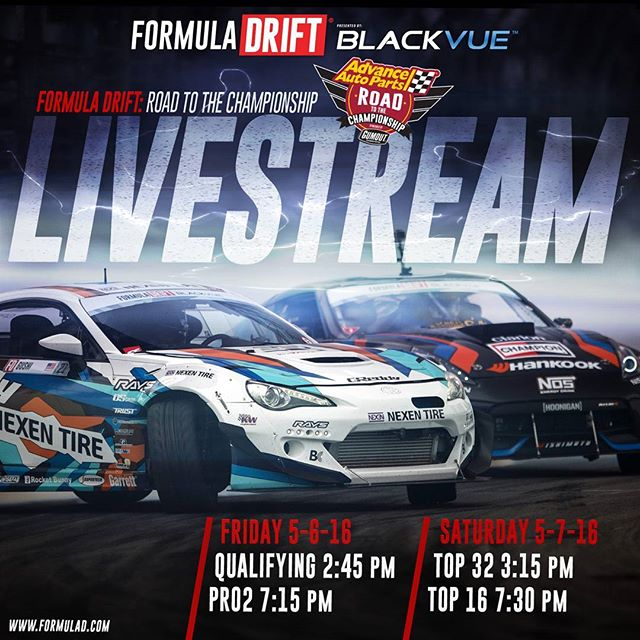 Live Stream Starts Tomorrow - Formula Drift Road Atlanta