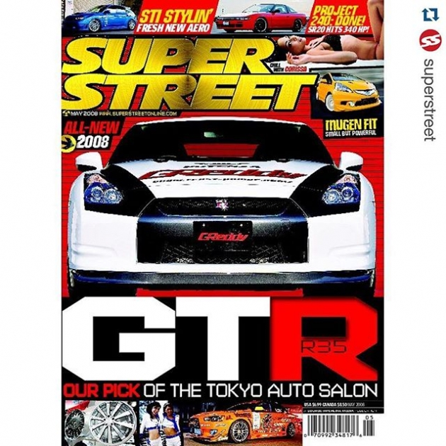 #Repost @superstreet ・・・ Keeping the #tbt train going, a look at the May 2008 issue featuring the GReddy GT-R, Mugen Fit and much more JDM goodness! #superstreet #superstreetjapan