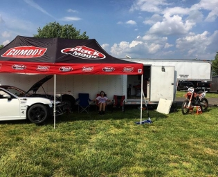We out here at @clubloose #EastCoastBash setup and ready...... To do work to the #tuerckdstreetcar ha. #foreverprepping @justin_tuerck brought out the @ktmusa 350 to do some motos on the practice track tomorrow. Gonna be a hot one this weekend. Can't wait to actually shred. #RT411