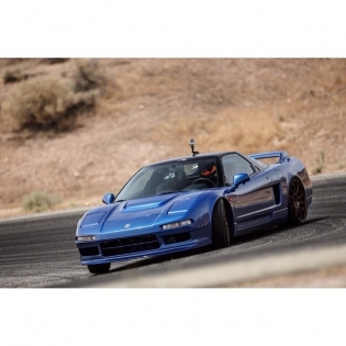 Who says you can't drift an NSX? A little trail brake to set it followed by the throttle down and the @clarionusa NSX steps out into a perfect slide. The @kw_suspension doesn't hurt either! #ClarionBuilds : @larry_chen_foto