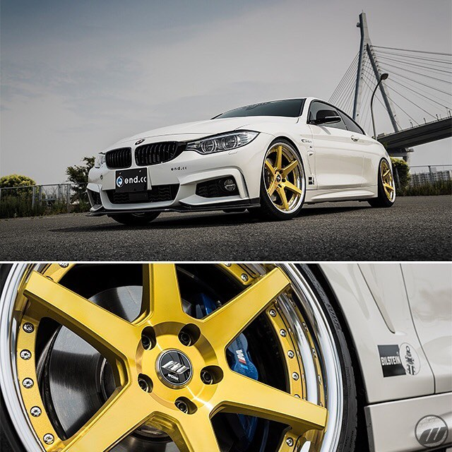 end.cc BMW 420i on WORK Zeast ST1 Imperial Gold F: 20x8.5J +21mm / R: 20x9.5J +23mm