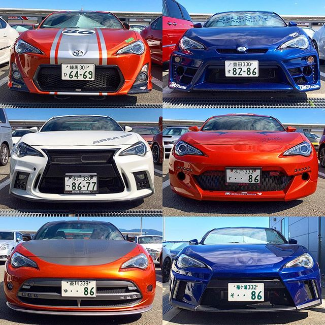 6 very different flavours of Toyota GT86 from the 86 festival at Fuji Speedway today. I'm not so sure they're all improvements though...