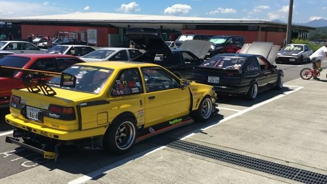 I don't know much about the venerable AE86, but after today I want to know more. This is a taste of what was on display at Fuji Speedway today for the 86 Festival.