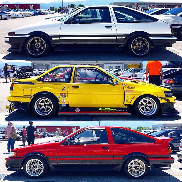 A few AE86s that caught my eye at the 86 Festival last weekend at Fuji Speedway.