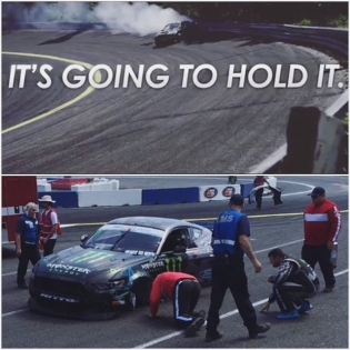Well, most of the time. Evergreen has it out for mustangs. ••• #FDSEA #justmustangthings #pawlaking #tisafleshwound
