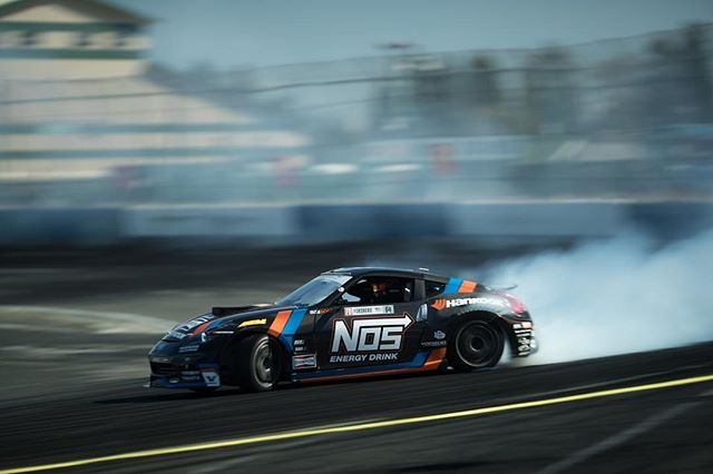 Almost time to shred in my @nosenergydrink @hankookusaracing @nissan 370Z! This thing is so fun to drive!