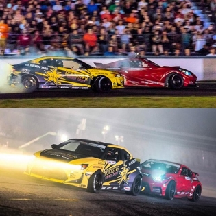 Gosh, I love drifting. Only just over a week till we head out for the final @formulad event of the year at the #HouseOfDrift! Photos by @valtersboze. #HoldStumt #RockstarDrift #SRbyToyota #NexenDriver