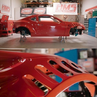 If you haven't checked out the latest update on the @gumout @huddyracing #GT4586 from @donutmedia hit the link in my profile. She Red! Really Red! #DonutMedia #huddyracing #Ferrariswap #redrum #sofunctional
