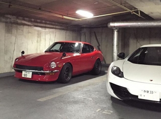 Two gems hidden away in a random parking garage. JDM classic and modern European supercar. Which would you pick? #S30 #mp412c