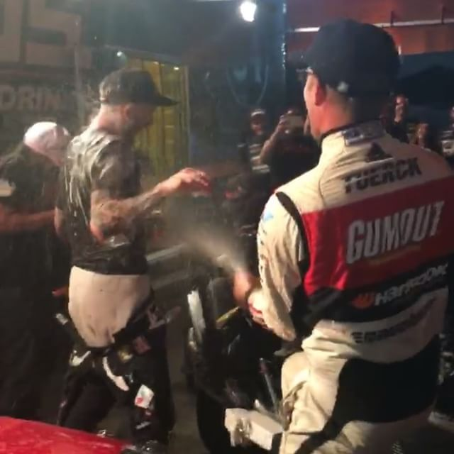 @chrisforsberg64 is the first ever 3rd time champion in @formulad history and I found an extra bottle of champagne so he got the extra celebratory treatment!