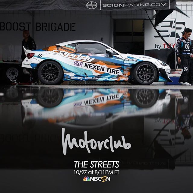 Catch @kengushi on this week's episode of @motorclubshow Thursday, Oct. 27th 8/11pm ET on NBC sports.  @greddyracing @toyotaracing 86