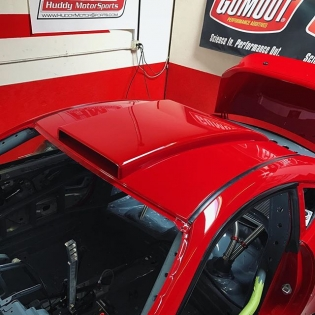 Details coming along nicely. This thing is getting close. @huddyracing has been at it non stop. We are hoping to have her fired up by the end of the week. @gumout @2m_autowerks @donutmedia @bcracingna @optimabatteries #HuddyRacing #GT4586 #Ferrariswap #Ferrari