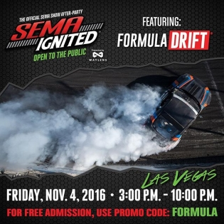 Going to the @semashow next week? Don't forget to get your tickets for SEMA Ignited! Use promo code: FORMULA #formulad #formuladrift #semaignited #sema