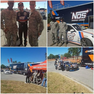 Photos from our day with @nosenergydrink at the Naval Air Station of Pensacola are hitting the grams. It was great to spend the day with the troops and give them rides in the cars! : @evan_clintsman