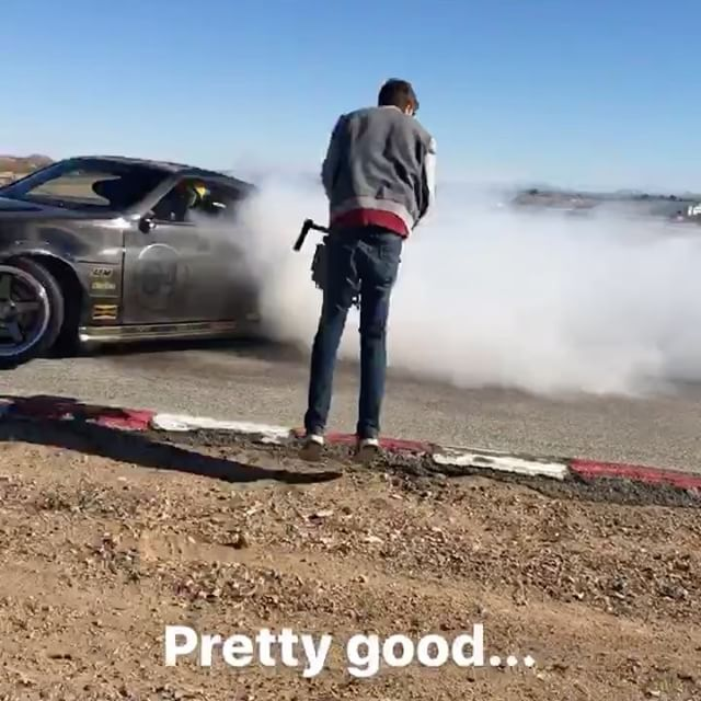 Another BTS story from our day at the track with @ryantuerck @donutmedia and the @huddyracing crew. Diving in for a closeup with @loreninhd! I love the sounds and feels of a turbo Z! : @colbyjameswest