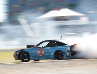Blasting throw the turn @coffmanracing @falkentire | Photo by @larry_chen_foto #formuladrift #formulad