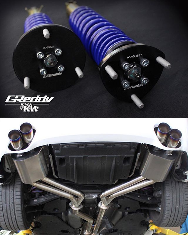 Lexus IS-F enthusiasts! -  the new performance coilovers are now in stock... and next month our GReddy dual to quad Titanium exhausts back!  Contact your favorite Authorized Dealer for details...