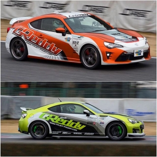 GReddy kouki 86 and BRZ tuning session at Tsukuba circuit with a GT300 champion driver, T.Matsui