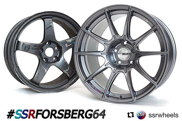 @ssrwheels with @repostapp ・・・ Giveaway Time! The SSR GT-F01 Forged wheel was utilized on @chrisforsberg64's car through 3 overall podiums including 2 CHAMPIONSHIPS! Next year Chris will be moving onto the new GTX01 wheel for his competition car and retiring the GT-F01s. At last year's Irwindale event, Chris smashed into a wall and this was the wheel that took the impact! Chris has signed it and we will be giving it away this week! All you have to do is give us a like/follow and share this picture with the hashtag #ssrforsberg64. We'll choose a winner on Friday Jan. 13th at 10am PST. *note: this wheel is to be used as display only and not to be installed on a car* Remember, if your account is private, we won't be able to see it! Must be a U.S. Resident to qualify!