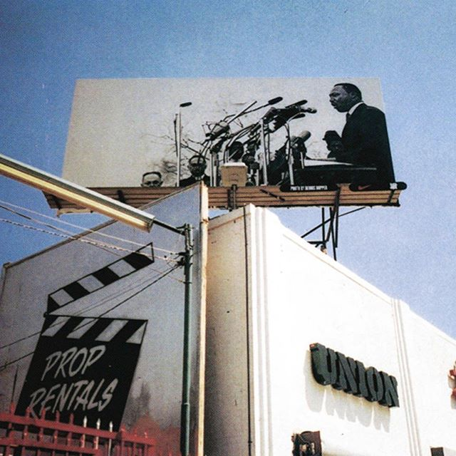 @undefeatedinc ・・・ Dr. Martin Luther King Jr. by Dennis Hopper Billboard on La Brea Ave. 2003.