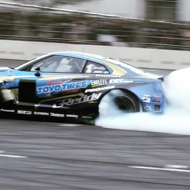 Saturday morning burnouts from - and the @trust.greddy 35RX GTR