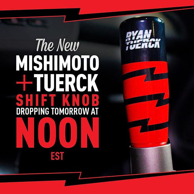 We are getting closer to the release of the new @mishimoto Automotive X Tuerck shift knob. Pumped on the overall design. Mishimoto and I have have been working on this for a while and now settled on this one. Awesome to see it all come together. Stay tuned as it goes live tomorrow at Noon.