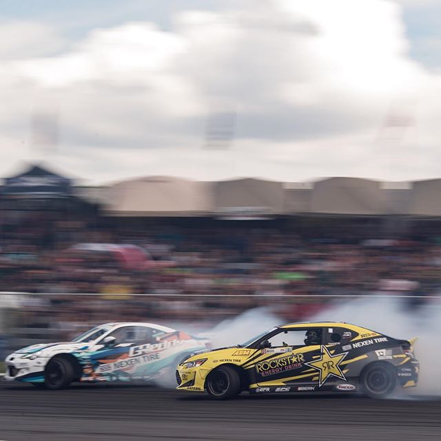 Who else is ready for the drifting season to start?! @kengushi @fredricaasbo @toyotaracing @nexentireusa | Photo by @larry_chen_foto