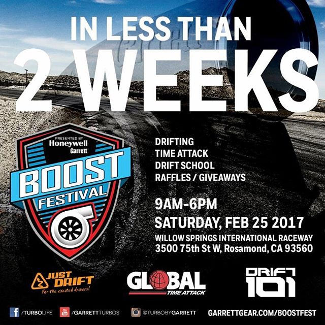 In less than two weeks @turbobygarrett's will be at WillowSprings. Check the flyer for details and hit the link in my profile to sign up. I unfortunately won't be able to make it but I hear first hand it's an awesome event.