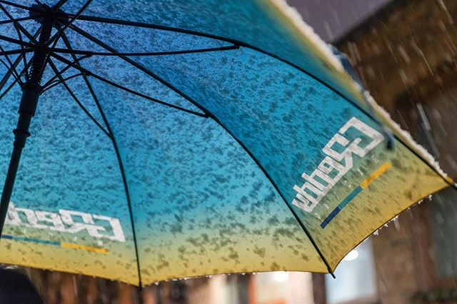 The So Cal rains are back. - prefect time for a large Racing gradient umbrella - available on #ShopGReddy.com  @akitakuya