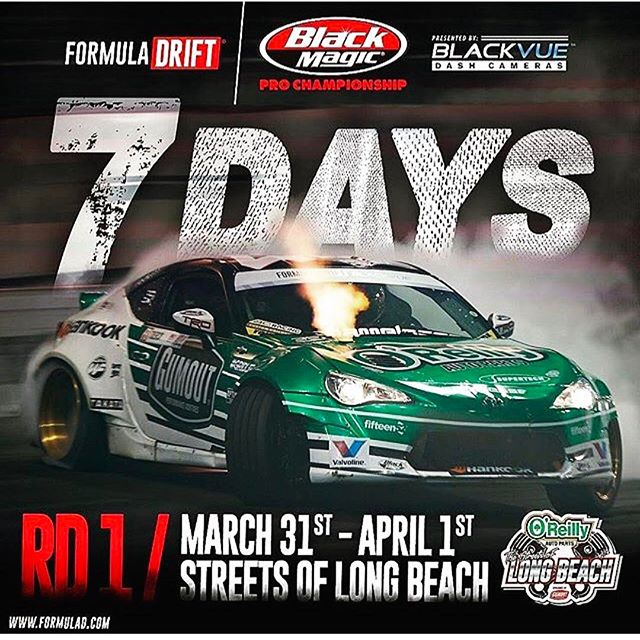7 days, let's do this!!!!!! @formulad Long Beach