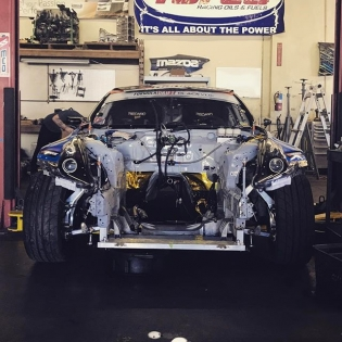 @chrisforsberg64 here! The 370Z is under the knife at my buddy @raddandrift 's shop as we swap in our spare VQ42 for the weekend. We found some water seeping into cylinder 2 so to be proactive we are swapping in our fresh engine to be ready for the weekend. Being prepared for anything is a part of a good racing program and things like this can and will happen when push to develop new engine programs. It is @namelessperformance and I's goal to have one of the best VQ engine programs in the world to continue the growth of the @nissan Z aftermarket. We will tear the other engine down to find the exact point of failure and upgrade it for the future.